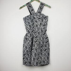 Aniina Jacquard Paisley Mini Bandage Dress Small
